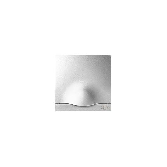 Simon 82 Pokrywa z klapką do gniazda wtyczkowego Schuko aluminium  82090-93