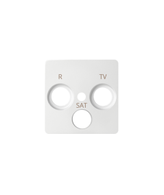 Simon 82 Pokrywa do gniazda antenowego R-TV-SAT biały  82037-30