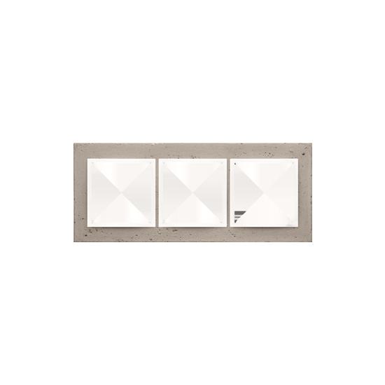 Simon 54 Nature- Ramka 3-krotna betonowa Al betone