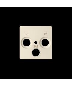 Simon 82 Pokrywa do gniazda antenowego R-TV-SAT beżowy  82037-31