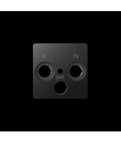 Simon 82 Pokrywa do gniazda antenowego R-TV-SAT grafit  82037-38