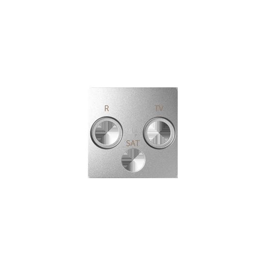 Simon 82 Pokrywa do gniazda antenowego R-TV-SAT aluminium zimne  82037-93