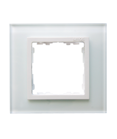 Simon 82 NATURE Ramka 1-krotna szklana biały / biała