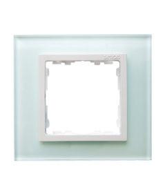 Simon 82 NATURE Ramka 1-krotna szklana naturalny / biała  82617-60