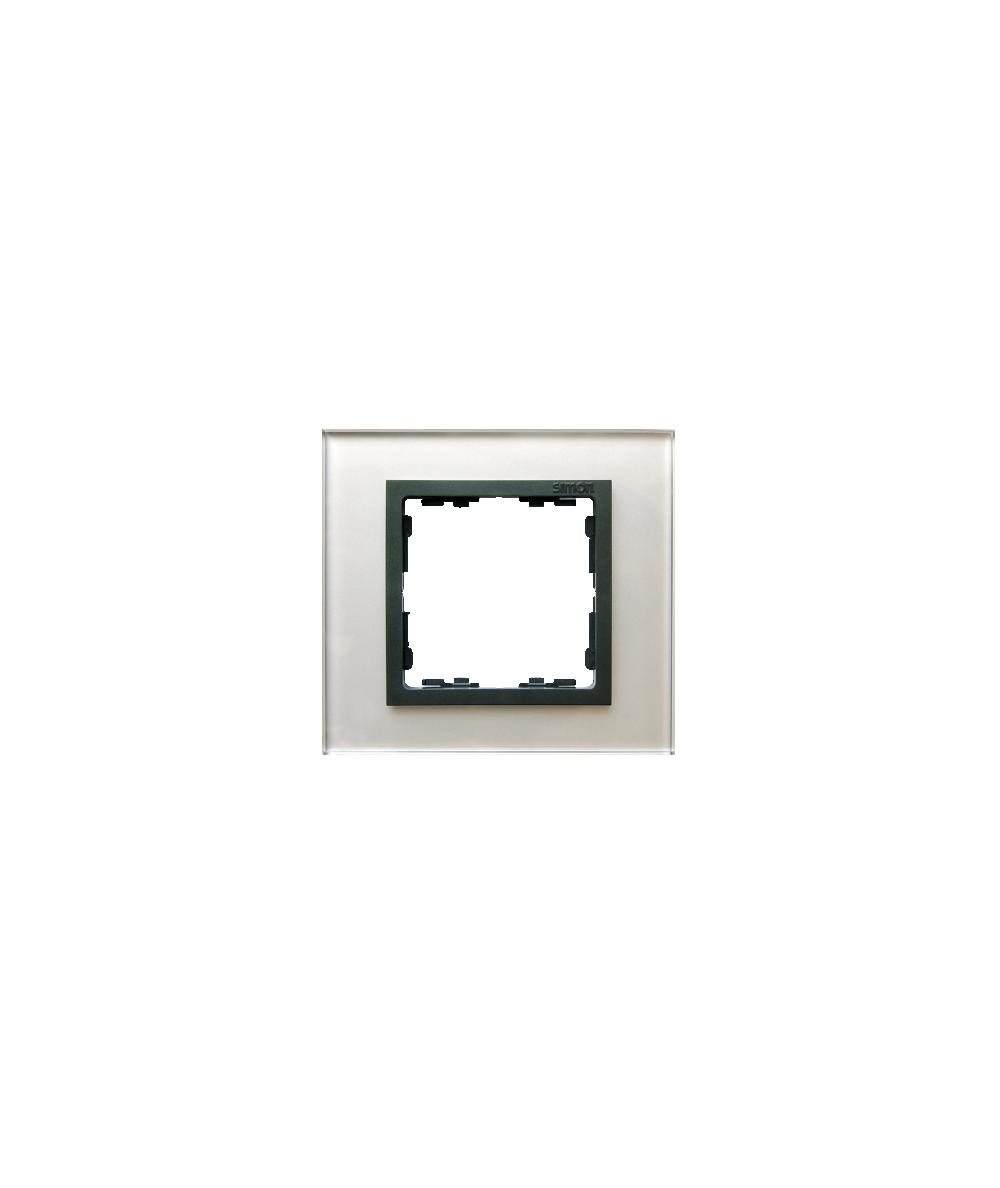 Simon 82 NATURE Ramka 1-krotna szklana szara / grafit  82817-35