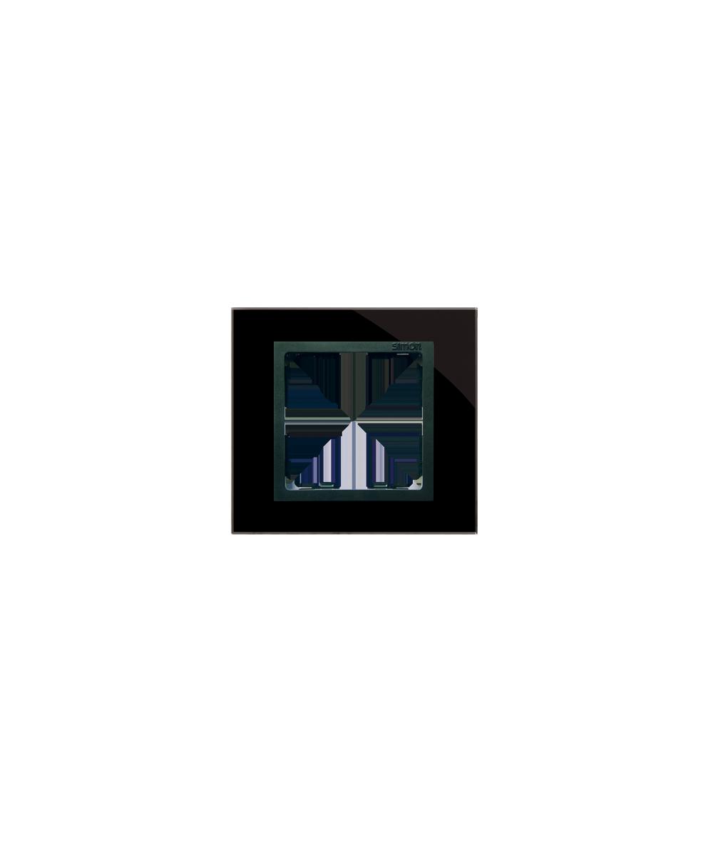Simon 82 NATURE Ramka 1-krotna szklana czarna / grafit