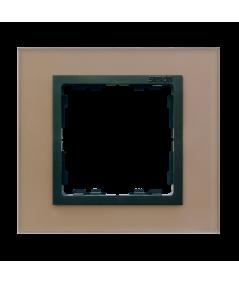 Simon 82 NATURE Ramka 1-krotna szklana miedź / grafit  82817-34