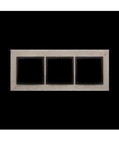 Simon 54 Nature- Ramka 3-krotna betonowa Funda mente