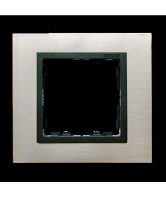 Simon 82 NATURE Ramka 1- krotna stal inox / grafit  82817-37