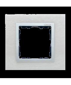 Simon 82 NATURE Ramka 1-krotna metalowa inox mat / aluminium  82917-34
