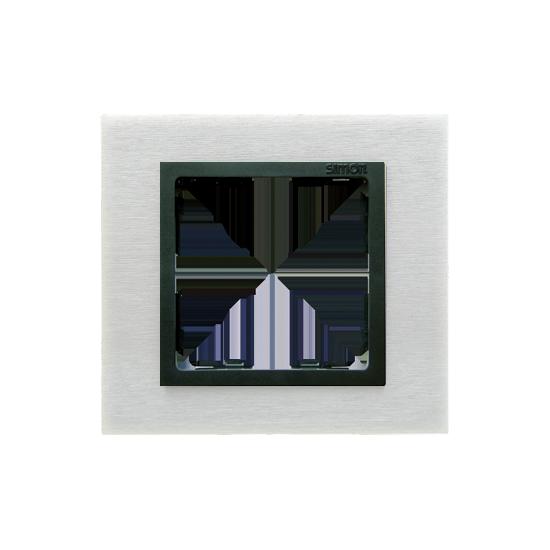 Simon 82 NATURE Ramka 1-krotna metalowa inox mat / grafit  82817-31