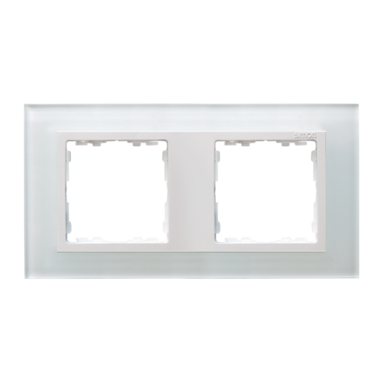 Simon 82 NATURE Ramka 2-krotna szklana biały / biała  82627-30