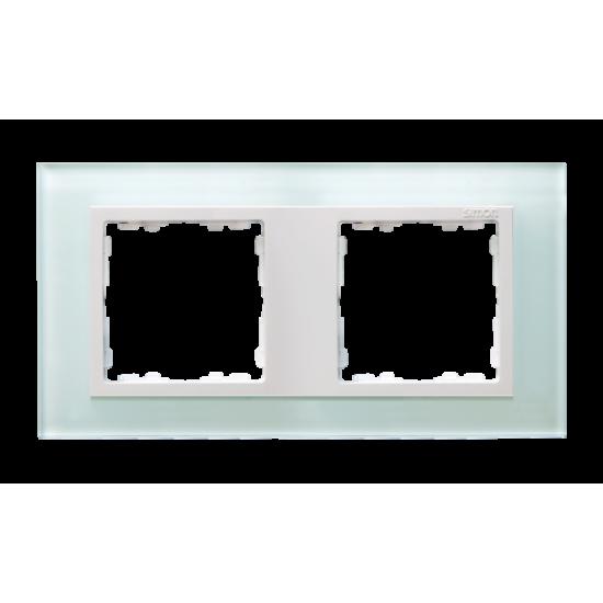 Simon 82 NATURE Ramka 2-krotna szklana naturalny / biała  82627-60