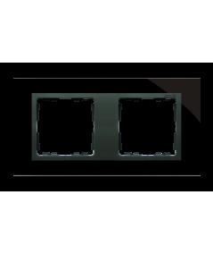 Simon 82 NATURE Ramka 2-krotna szklana czarna / grafit