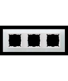 Simon 82 NATURE Ramka 3-krotna szklana biały / biała   82637-30