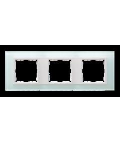 Simon 82 NATURE Ramka 3-krotna szklana naturalny / biała  82637-60