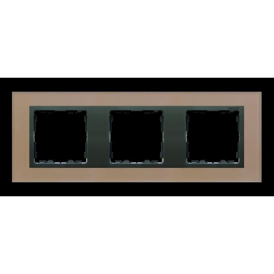 Simon 82 NATURE Ramka 3-krotna szklana miedź / grafit  82837-34
