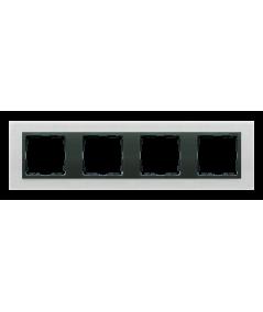 Simon 82 NATURE Ramka 4-krotna metalowa inox mat / grafit  82847-31