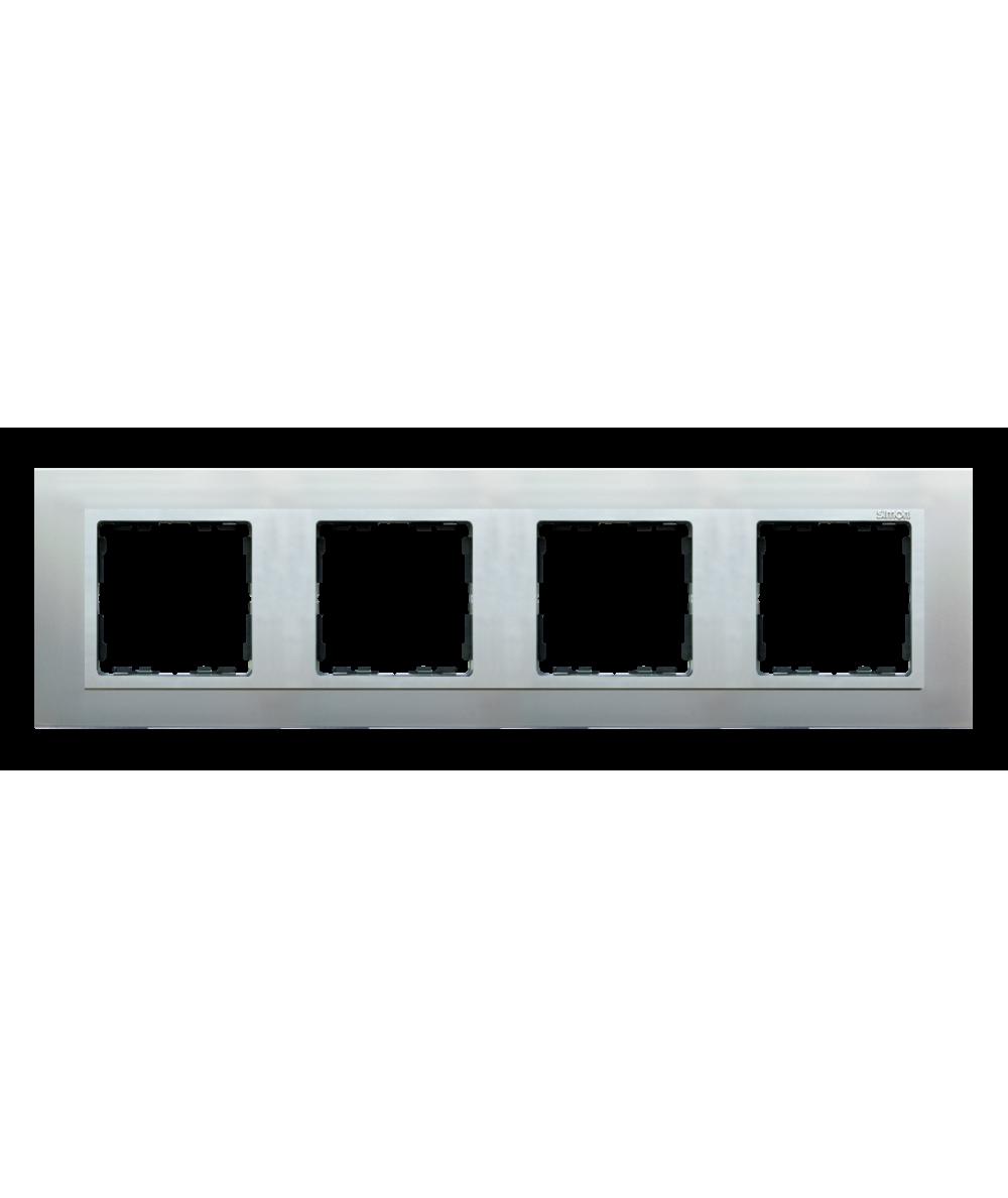 Simon 82 NATURE Ramka 4-krotna aluminium / aluminium mat  82947-33
