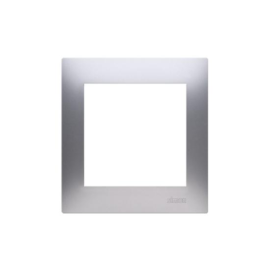 Simon 54 PREMIUM Ramka 1-krotna srebrny mat, metalizowany  DR1/43