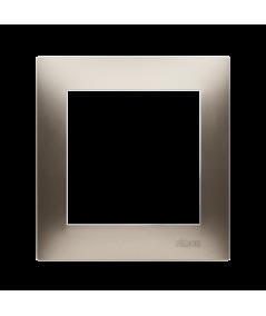Simon 54 PREMIUM Ramka 1-krotna złoty mat, metalizowany  DR1/44