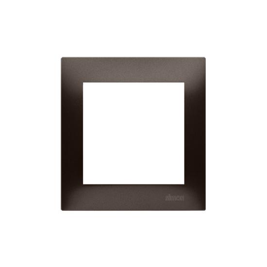 Simon 54 PREMIUM Ramka 1-krotna brąz mat, metalizowany  DR1/46