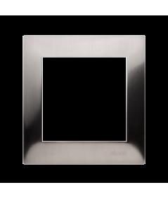 Simon 54 PREMIUM Ramka 1-krotna metalowa inox, metal   DR1/61