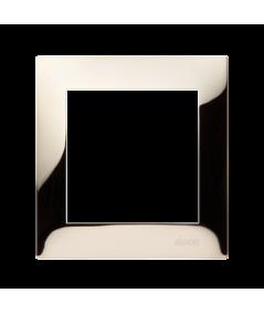 Simon 54 PREMIUM Ramka 1-krotna metalowa złoto, metal  DR1/66