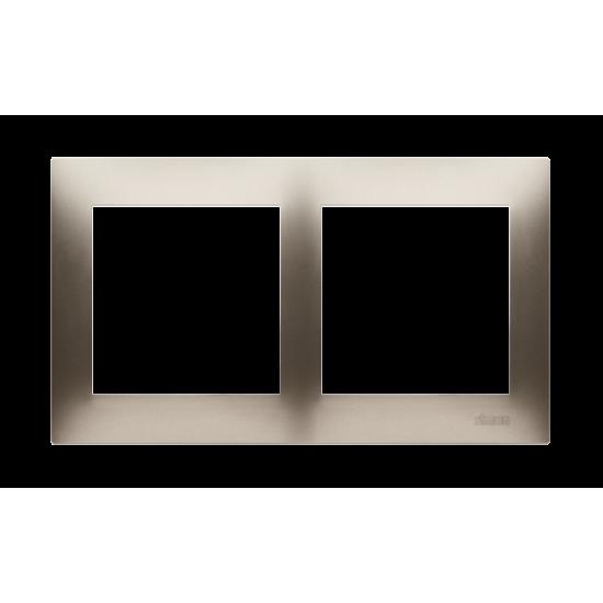 Simon 54 PREMIUM Ramka 2-krotna złoty mat, metalizowany  DR2/44