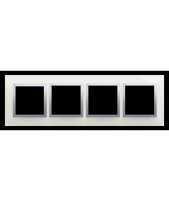 Simon 54 Nature- Ramka 4- krotna szklana srebrna mgła
