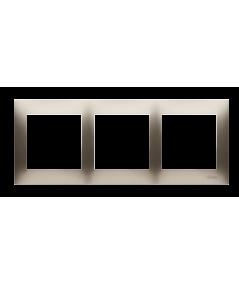 Simon 54 PREMIUM Ramka 3-krotna złoty mat, metalizowany  DR3/44