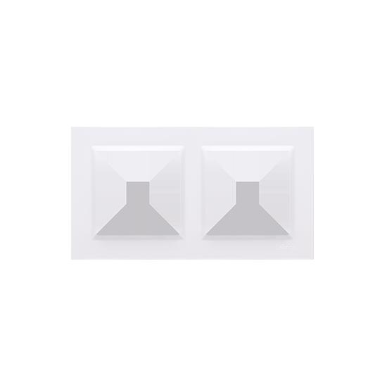 Simon 10 Ramka 2-krotna biały CR2/11