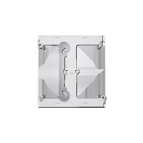 Simon 10 Puszka natynkowa –element rozszerzający puszkę pojedynczą składaną do ramek wielokrotnych biały  CSH/11
