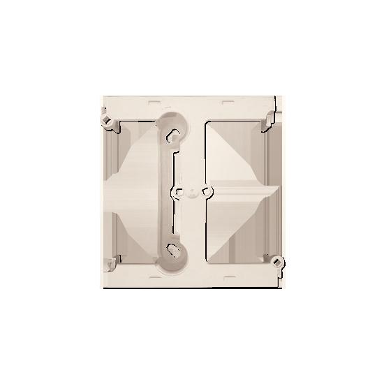 Simon 10 Puszka natynkowa –element rozszerzający puszkę pojedynczą składaną do ramek wielokrotnych kremowy  CSH/41