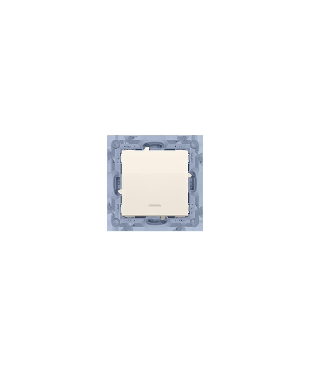 Simon 10 Łącznik jednobiegunowy z podświetleniem LED kremowy 10AX  CW1L.01/41