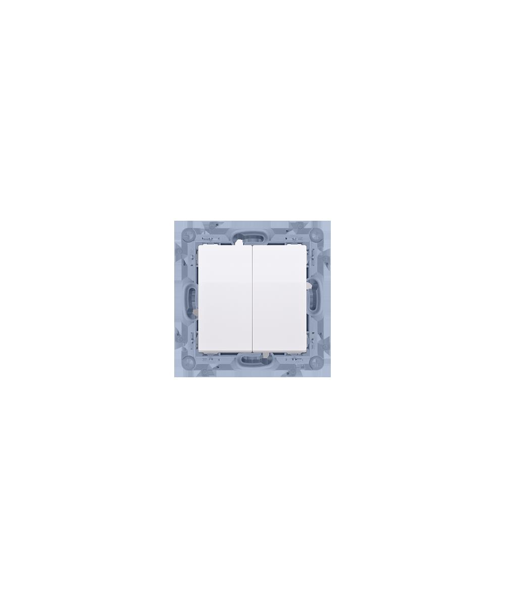 Simon 10 Przycisk podwójny biały 10AX  CP2.01/11