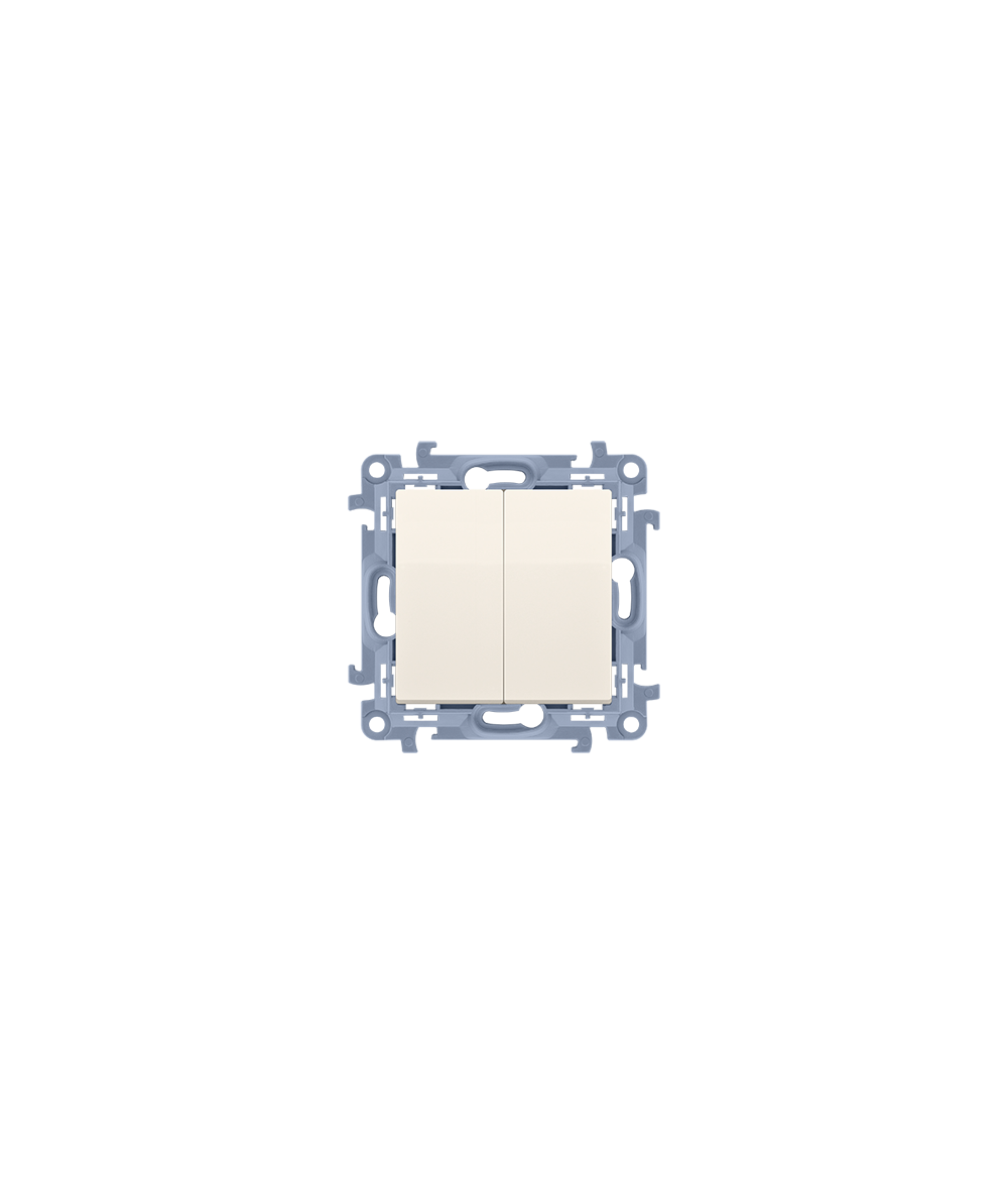 Simon 10  Przycisk podwójny kremowy 10AX  CP2.01/41
