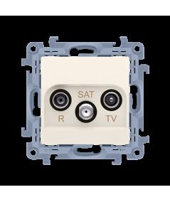 Simon 10 Gniazdo antenowe R-TV-SAT końcowe/zakończeniowe gniazdo antenowe RTV-RTV końcowe tłum.:1dB kremowy  CASK.01/41