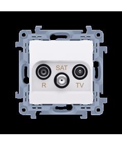 Simon 10 Gniazdo antenowe R-TV-SAT przelotowe tłum.:10dB biały  CASP.01/11
