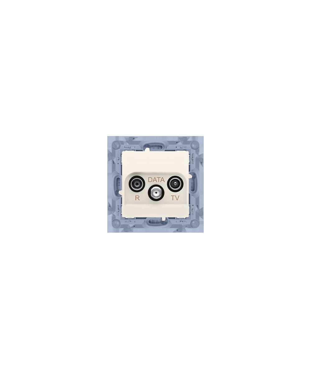 Simon 10 Gniazdo antenowe R-TV-DATA tłum.:10dB kremowy  CAD.01/41