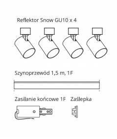 Snow SET 1F czarny