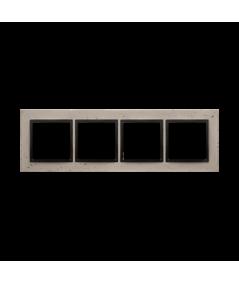 Simon 54 Nature- Ramka 4-krotna betonowa Funda mente