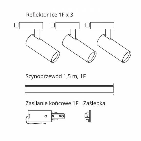 Ice SET 1F czarny