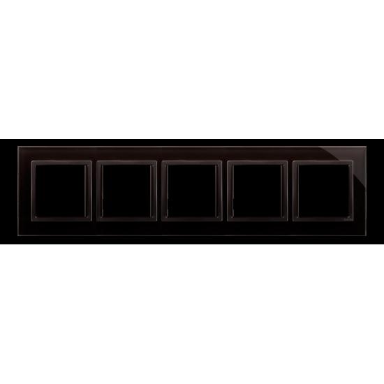 Simon 54 Nature- Ramka 5- krotna szklana zastygła lawa