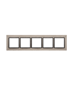 Simon 54 Nature- Ramka 5-krotna betonowa Funda mente