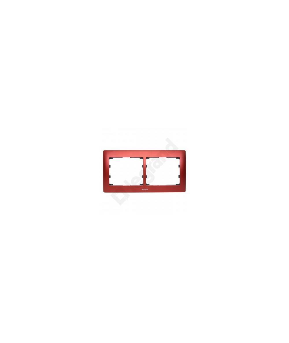 SISTENA LIFE Ramka MAGIC RED podwójna pozioma 771902