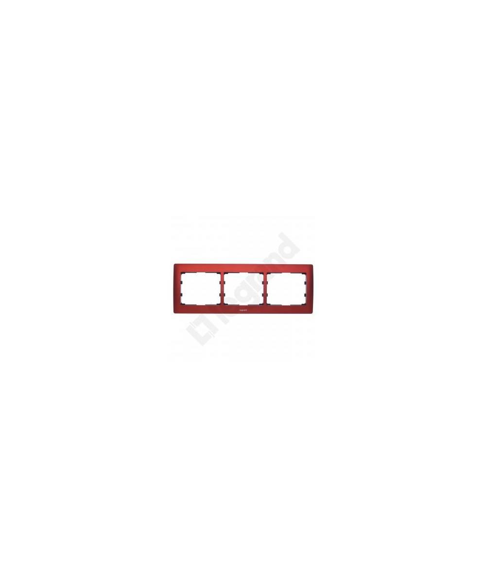 SISTENA LIFE Ramka MAGIC RED potrójna pozioma 771903