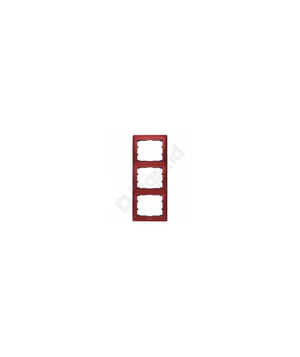 SISTENA LIFE Ramka MAGIC RED potrójna pionowa 771907