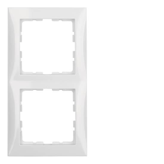 Ramka B.Kwadrat 2-krotna biała 5310128989