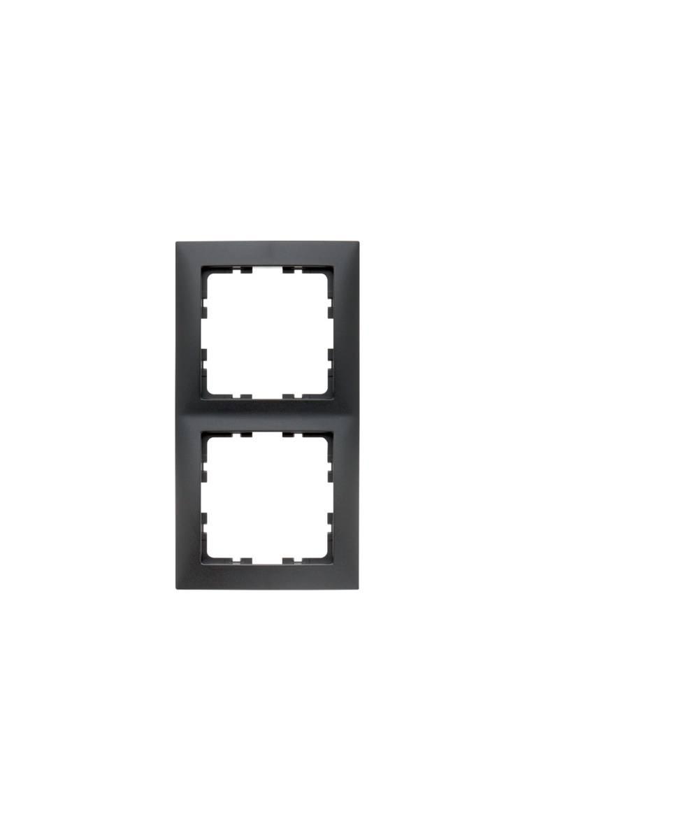 Ramka B.Kwadrat 2-krotna antracyt, mat 5310128996